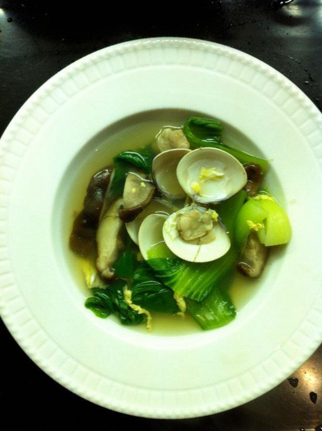 はまぐり 青梗菜 椎茸 スープ レシピ