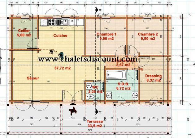 Maison bois Sygrid variante