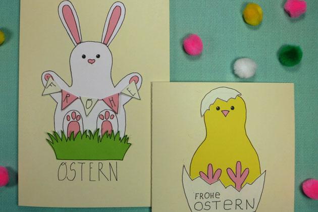 Ostern - Grußkarten zu Ostern basteln - DIY-Projekt