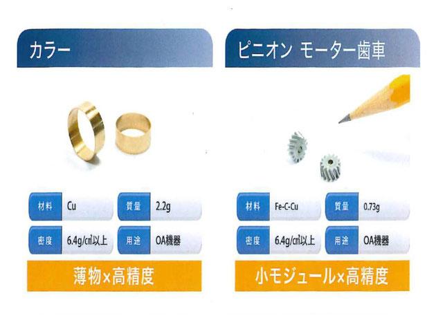 通常、焼結で難しい「薄物」や「小モジュールギヤ」の製作についても実績があります。