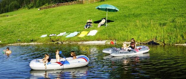 Zwemvijver en speelplaats – Steinbachgut Flachau