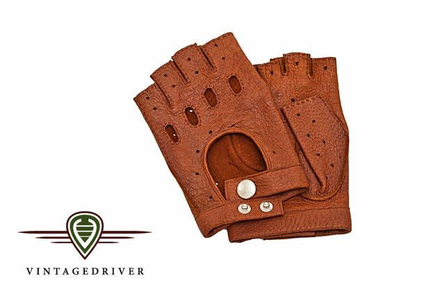 Braune Lederhandschuhe von Vintagedriver