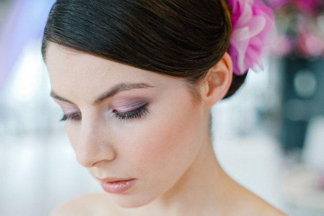 Haarblüte Amanda in Rosa, Pink, Violett Mix für die Braut