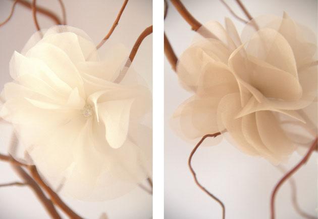 "Haarblüte ""Amaris"" und ""Angel"" Netzschleier mit Haarblüte Haarschmuck"