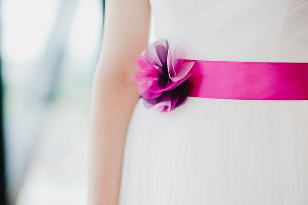 Brautgürtel Summer in Rosa, Pink, Violett Mix für die Braut und ihre Hochzeit in Pink-Rosa.