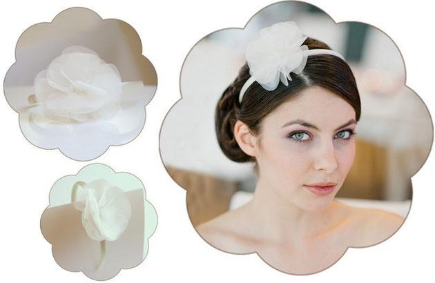 Haarreifen Celeste in ivory für Hochzeiten, Standesamt und Sommerfeste! Auch perfekt zu Tracht.