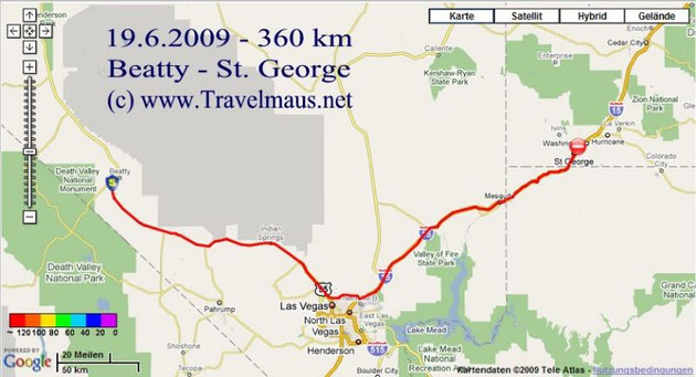 19.6.2009 Beatty - Saint George 360 km