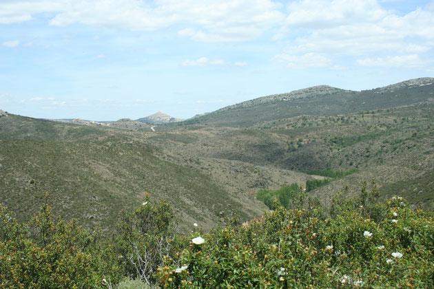 Barranco de Hierro y más al fondo el barranco del Val