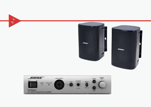 Bose, bocinas para plafón, musica ambiental, jbl, DM2s