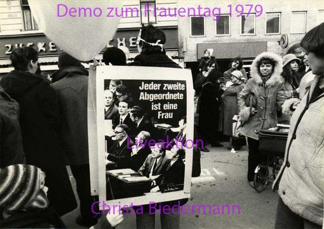 Demontration zum Tag der Frau 1979, Foto von Eva Dité
