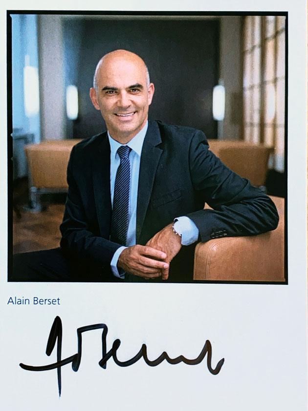 Autograph Alain Berset Autogramm