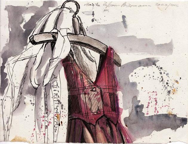 Kleider auf Bügeln