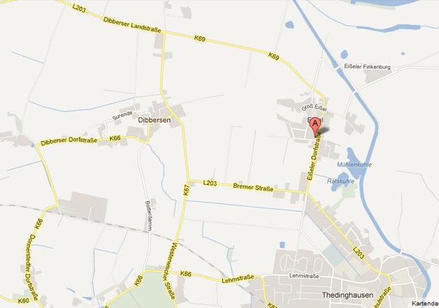 Karte aus Googlemaps
