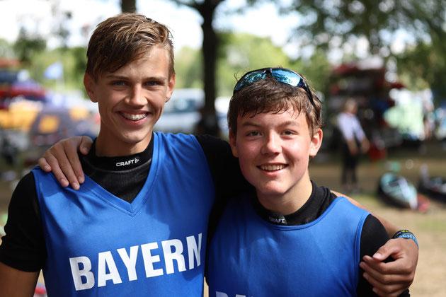 Freuen sich über den vierten Platz: Simon Hoiß (re.) und Feix Wirl