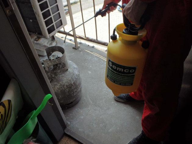 殺菌、消毒施工