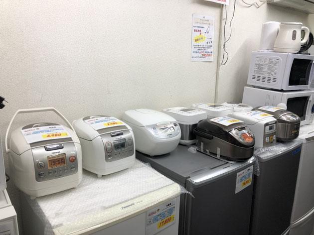 色々なメーカーの炊飯器