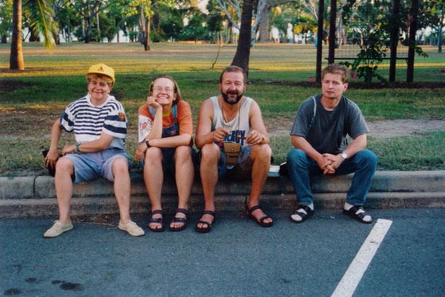 Rosi, Manja, Andreas und René in Darwin (NT)