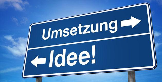 Schild Umsetzung Idee