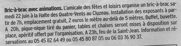 Article Charente Libre 13 juin 2013