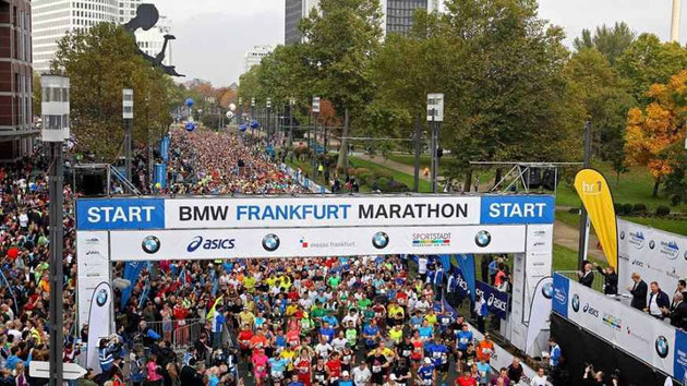 Start des Frankfurt Marathons