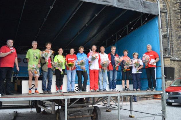 Organisatoren und Helfer des 10. Köthener City-Laufs für ihr Engagement ausgezeichnet