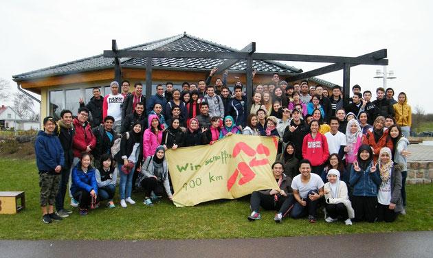 Die Teilnehmer des Landesstudienkolleg der Hochschule Anhalt