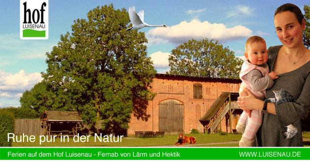 Ferienhof Luisenau Ferienwohnung Uckermark Brandenburg