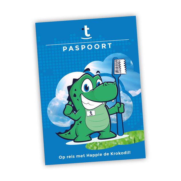 Alle kinderen die bij Tandheelkunst komen krijgen een eigen Happie-paspoort: boordevol leuke weetjes en handige tips voor tanden zo sterk als die van een krokodil.