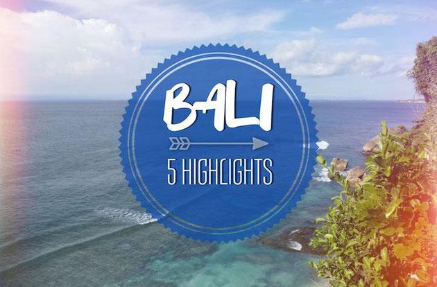 5 Highlights für euren Bali Urlaub. Wir geben euch fünf spannende Tipps für eure Reise.