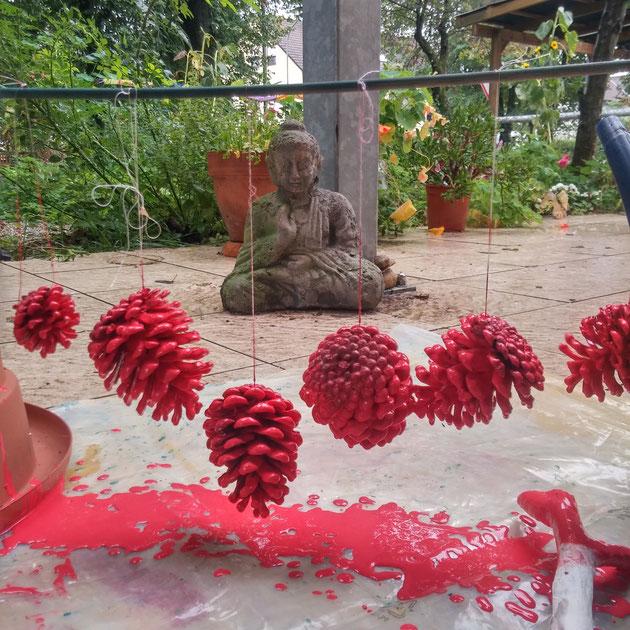 Kunst kaufen, Kreativität in Rot, Leben macht Spass, Kunst in Olching