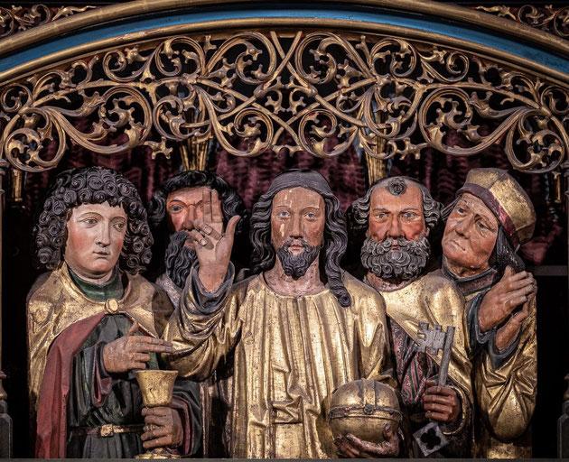 Détail du magnifique retable de la Passion (1518-1521) que l'on peut aujourd'hui encore contempler dans le choeur de l'église Sainte-Croix de Kaysersberg.