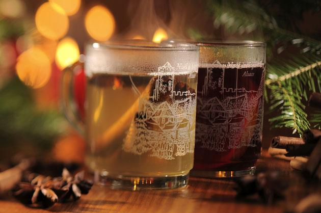 Blanc ou rouge l'authentique vin chaud d'Alsace : un  incontournable compagnon des balades hivernales