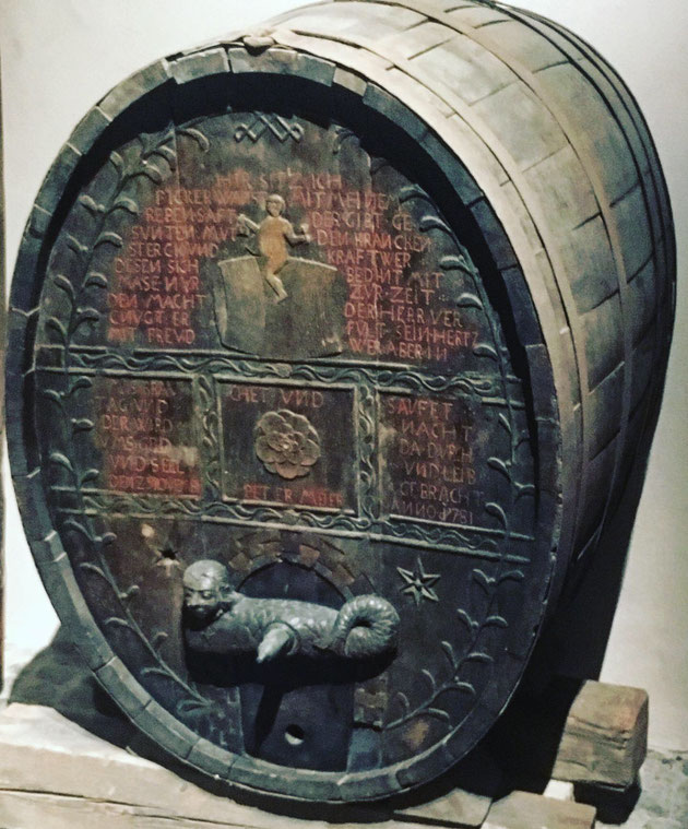 Le Fasselritter ou chevaucheur de tonneau orne le tonneau de Peter Meier - Musée Unterlinden