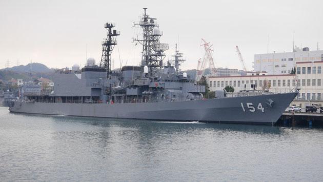 護衛艦「あさぎり」。1987年に進水した船なので、そろそろ引退かもしれません。
