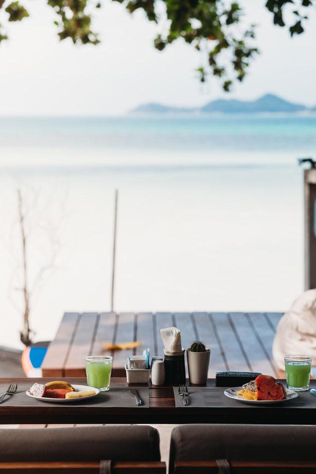 Frühstück auf Koh Samui Chaweng Beach