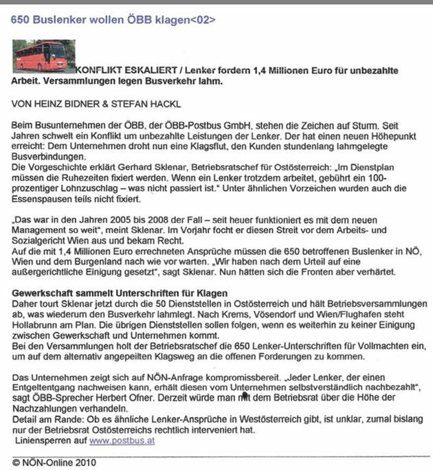 NÖ Nachrichten online 2010