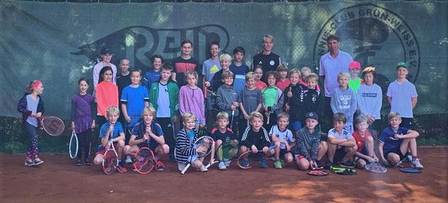 Die Teilnehmer vom Jugendclubturnier 2019