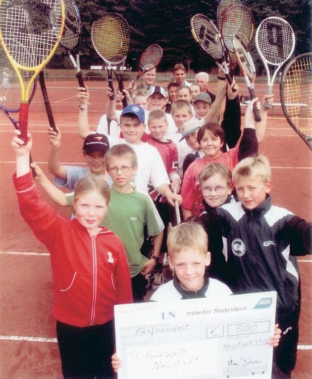 Der TC Grün-Weiß gewinnt den Jugendsportförderpreis der LN und der AOK.