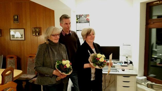 25-jähriges Clubjubiläum ....... Gertrud Brügmann,  Andreas Lehmann,  Karin Gehrke