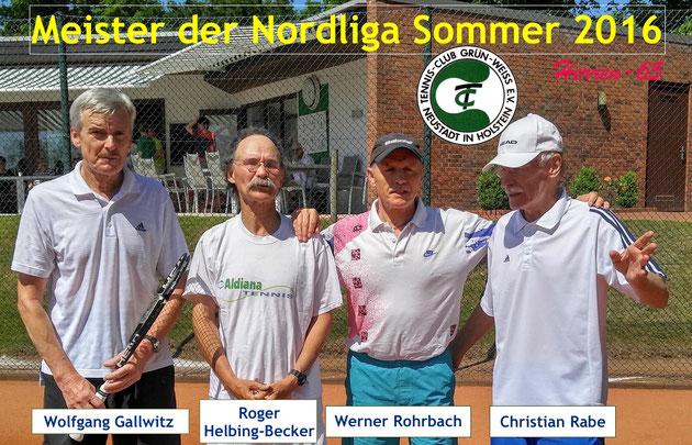 Nicht auf dem Foto, aber dennoch im Einsatz waren außerdem Walther Meyer-Hasse, Dieter Magath und Rolf Seyer