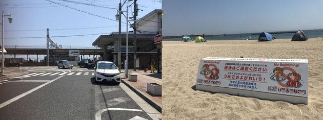 夏休みなのに~閑散とした須磨駅