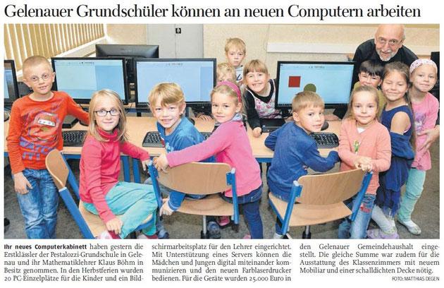 Freie Presse (Lokalausgabe Zschopau) am 28.10.2015
