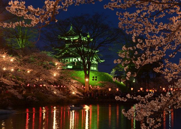 夜 桜 おすすめスポットスローシンクロ、好きな一枚です