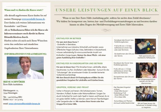 Flyer Seite 2 Erste Hilfe Schule Nördlicher Breisgau