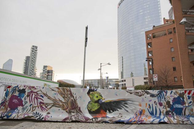 Berto191 & Manu Invisible - Bosco verticale, Milano - Bosco verticale, Milano - spray su cemento