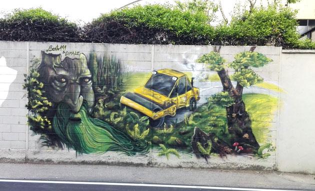 Berto191 e Mace - Barlassina - spray su muro