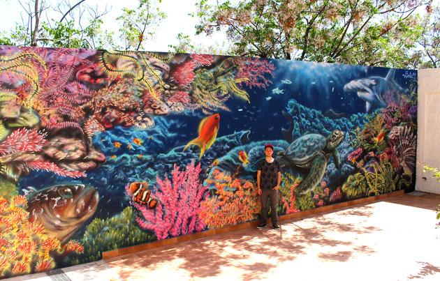 Lampedusa (Ag) - spray su muro