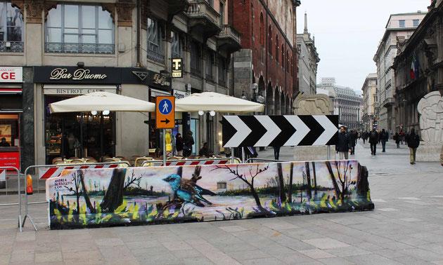 Piazza Duomo - Milano -spray su cemento