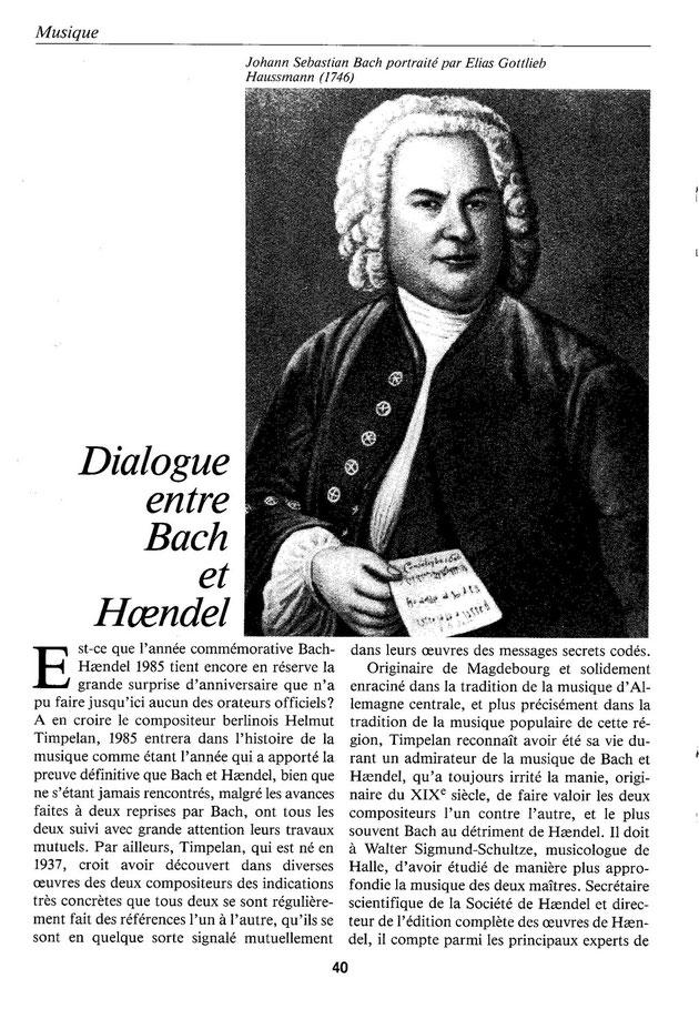 Horst Koegler | Bach und Händel