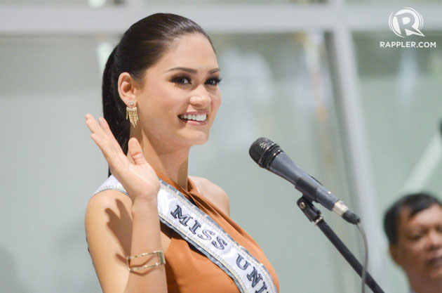 PIA WURTZBACH. Miss Universe 2015 arrives in Manila for her Grand Homecoming. Photo by Alecs Ongcal/Rappler